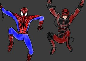 Spidey And Daredevil by LoTexArt