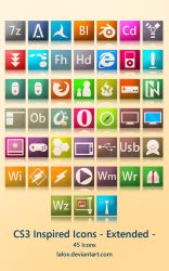 CS3 Inspired Icons -Extend- by lalox