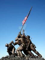 Iwo Jima Memorial - Replica  by peterkopher
