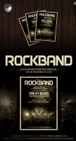 Local Rock Band Poster PSD by EdenEvoX