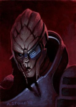 Painting Exercise: Garrus by alexstoneart