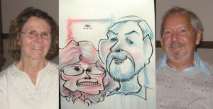caricature- old pinkblue 2010 by chrisCHUA