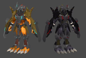 Wargreymon X Static model by MaZaddah