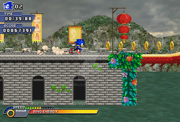 Sonic Unleashed 2D-Dragon Road by Vebills