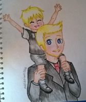 Art request: Father and Son by reddishpirate0614