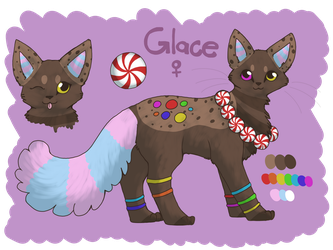 Commission- Glace Reference Sheet by Parrotfeathers