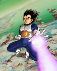 Vegeta on Namek by Gothax