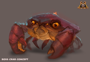 Boss Crab is Grump by michaeldoig