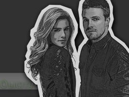 Oliver Queen and Felicity Smoak by BloodyLullaby95
