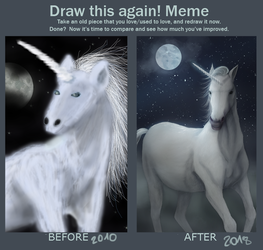 Draw this again meme - 2018 vs 2010 by mechanicalvalkyrie