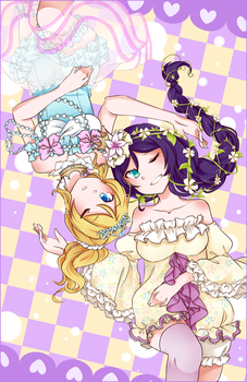 LLSIF: Garden of Glass by hinarytea