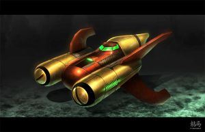 Metroid Ship Redesign by RyoTazi