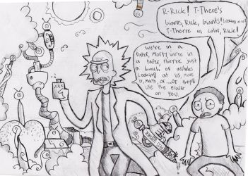 The Rick and Morty piece: Meta World by MrFulp