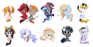 Chibi Pony Pack #1 by Riouku