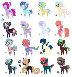 Ponei De Adoptat ponies for adoption points only by Mewzet