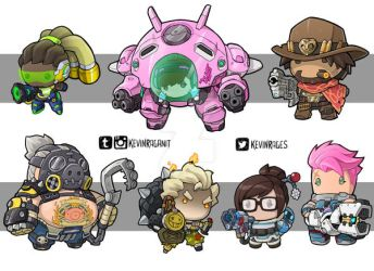 Tiny Overwatch Group 03 by KevinRaganit