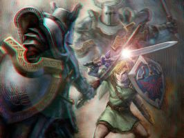 Link Battle in 3-D by MVRamsey