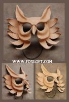 Leather Mask Prototype by Foxfeather248