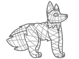 Wolf Cross Contour by ChristyPaws
