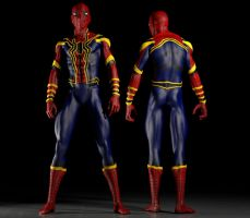Spiderman Homecoming costume 2nd skin texts for M4 by hiram67