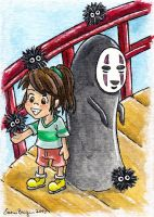 Spirited Away ATC by emmadreamstar