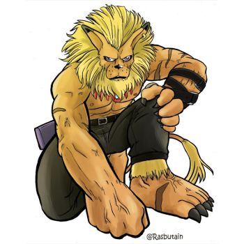 Leomon for the digimon Collab by mikurose