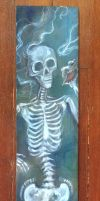 Skelly Mermaid with Triton Conch by meddevi