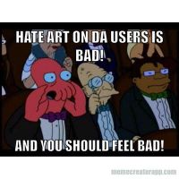 Zoidberg hates hate art. by Epic-wrecker