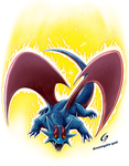 Salamence using Fury copia by Dreamgate-Gad