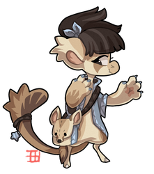 #416 Blessed Bagbean - Cape fox help choose owner by griffsnuff
