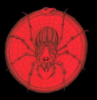 Red Ouroboros and Spider by AntonChanning