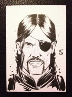 The Governor sketch card by MikimusPrime