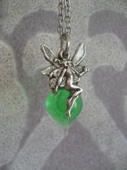 Absinthe fairy pendant. by Luppie05