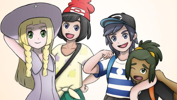 The Gang! (Pokemon: Sun and Moon) by CaiusNelson