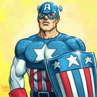 Daily Sketches Golden Age Captain America by fedde