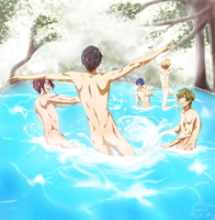 Swimming Boys by Daniimon
