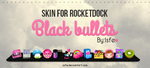 Skin for Rocketdock Blackbulletes by Isfe