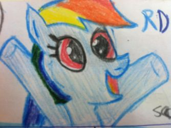 Rainbow dash I draw by rcboy17