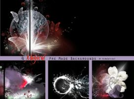 4 Magical Pre Made Backgrounds by VaLeNtInE-DeViAnT