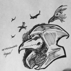 Reaper Nevermore Inktober Day 14 by soulofapa