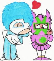 Zero Kelvin Kissing La Pinata by nintendomaximus