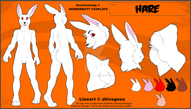 Hare (Endorheart Chronicles) - Reference Sheet by RudderbuttCosplays