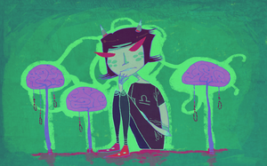 Terezi with Brain Trees by squish-squash