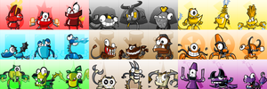 Mixels Series 1-3 Icons/Portraits (F2U On Sta.sh) by maklein
