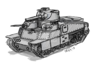 Tank, Heavy, Multiple-Turret, Experimental, Mk1 by cthelmax