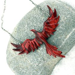 Phoenix pendant, Handmade from Wood by JonasOlsenWoodcraft