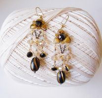 Gold Ox Danglers by RetroRevivalBoutique