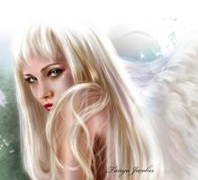 Green-eyed angel by tanya-and-coffee