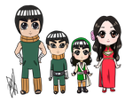 Chibis: Lee Family by MajoRaccoon