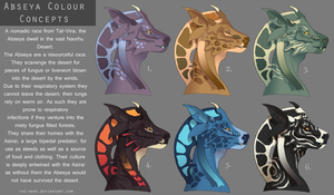 Abseya Colour Concepts-Opinions plz! by TheVerdantHare